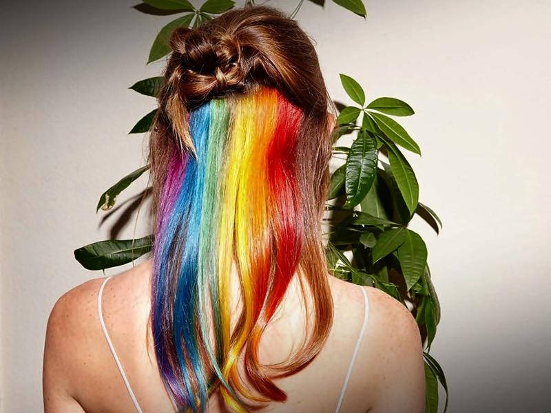 Tips Membuat Style Rambut Pelangi
