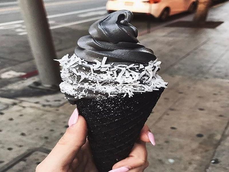 apakah es krim hitam sehat atau tidak