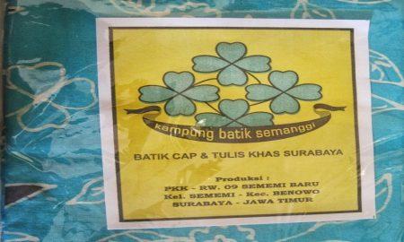 batik semanggi khas surabaya.
