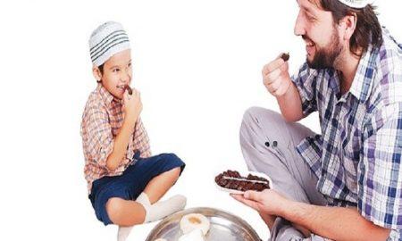 mengajarkan puasa sejak dini kepada anak.