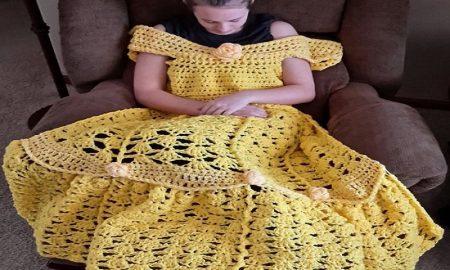 baju rajut bisa membuat seperti putri Disney