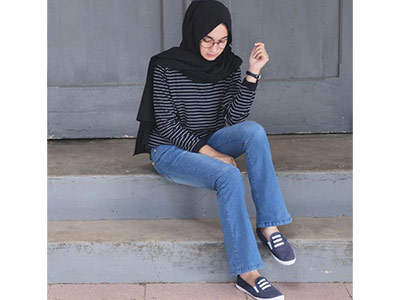 inspirasi hijab casual modis menyambut hari raya Idul Adha