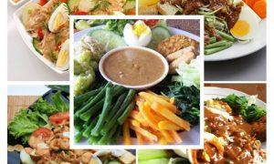 salad asli Indonesia pelengkap menu hari raya